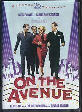 ON THE AVENUE~1937 VG/C DVD~MADELEINE CARROLL ALICE FAYE DICK POWELL RITZ BROS