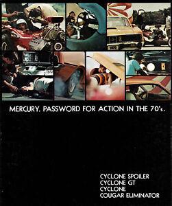 1970 Mercury Cyclone Cyclone GT Cyclone Spoiler Cougar Eliminator Sales Brochure