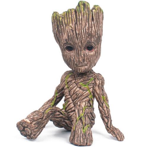 Guardians of The Galaxy Baby Groot Figure Flowerpot Pen Pot Toy Gifts 6CM DD