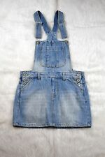 Tinseltown Juniors overall skirt medium wash denim Jumper. Size Small.