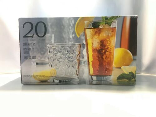 Costco 20-Piece Assorted Sized Drink-Ware Set cups