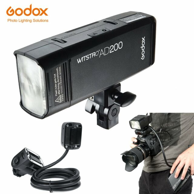 Godox AD200 2.4 TTL HSS Two Heads Flash with EC200 1.85m Remotely Extender Flash