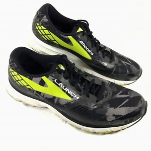 9c758ddf687 Image is loading Men-039-s-Brooks-Running-Shoes-Black-Green-