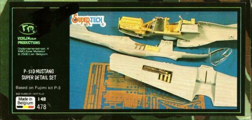 Verlinden 1:48 P-51D P-51 D Mustang Super Detail Set #478