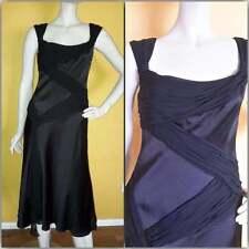 NWT Carmen Marc Valvo Collection Black Silk Cocktail Dress 4 Neiman Marcus