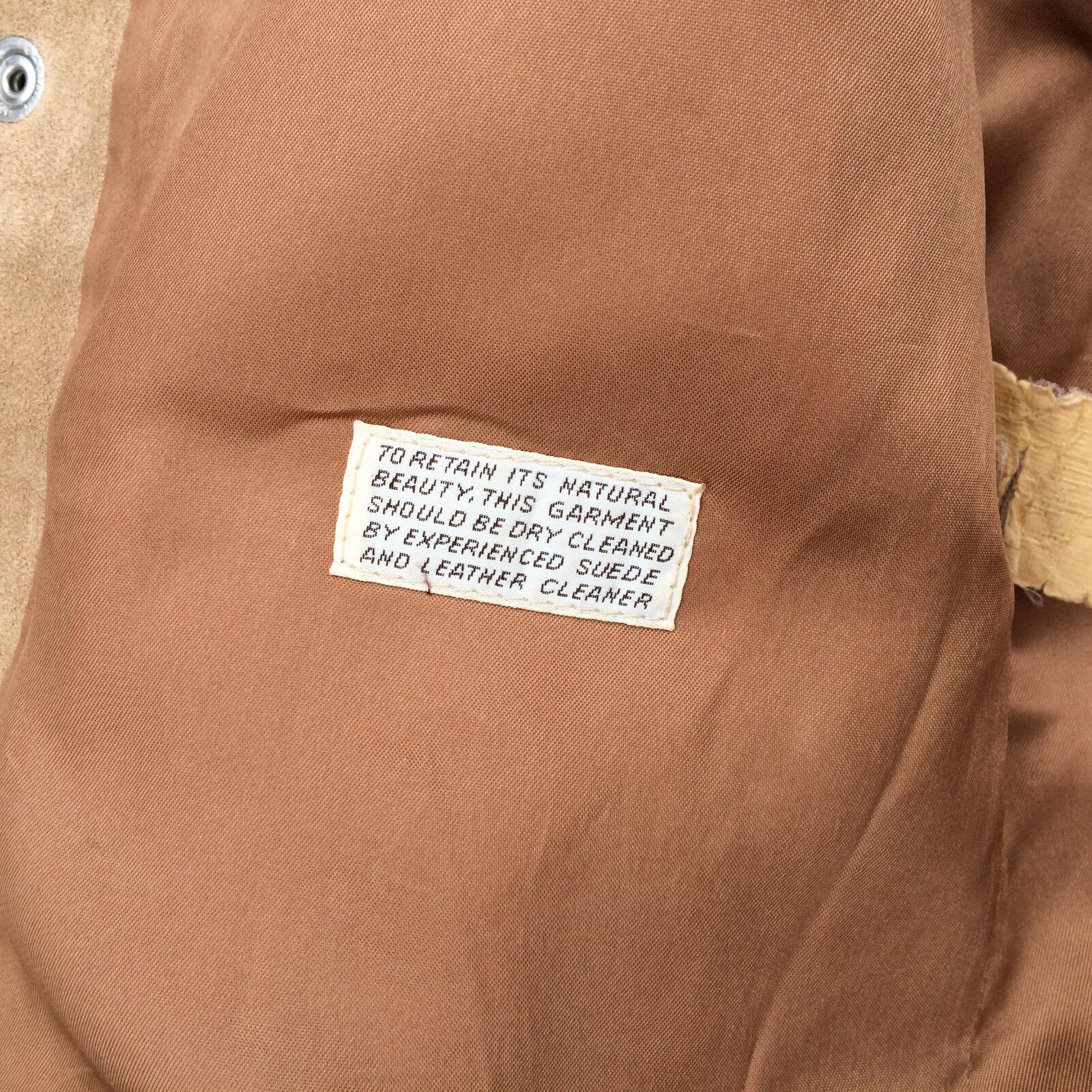 Rare Vintage 60s 70s Levis Suede Orange Tab Leath… - image 11
