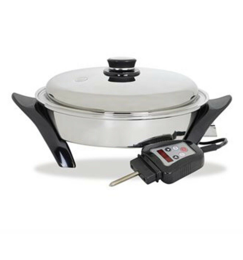 Saladmaster 12 in. (30.5cm) Electric Oil Core Skillet with Cover (Brand New)
