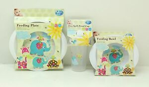 First Steps Baby Feeding Set Plate Bowl Bowls & Plates
