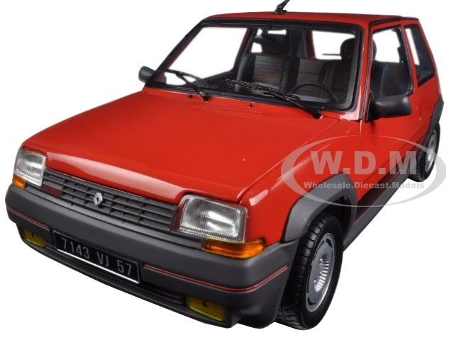 1986 RENAULT SUPERCINQ GT TURBO rosso 1 18 DIECAST MODEL CAR BY NOREV 185208