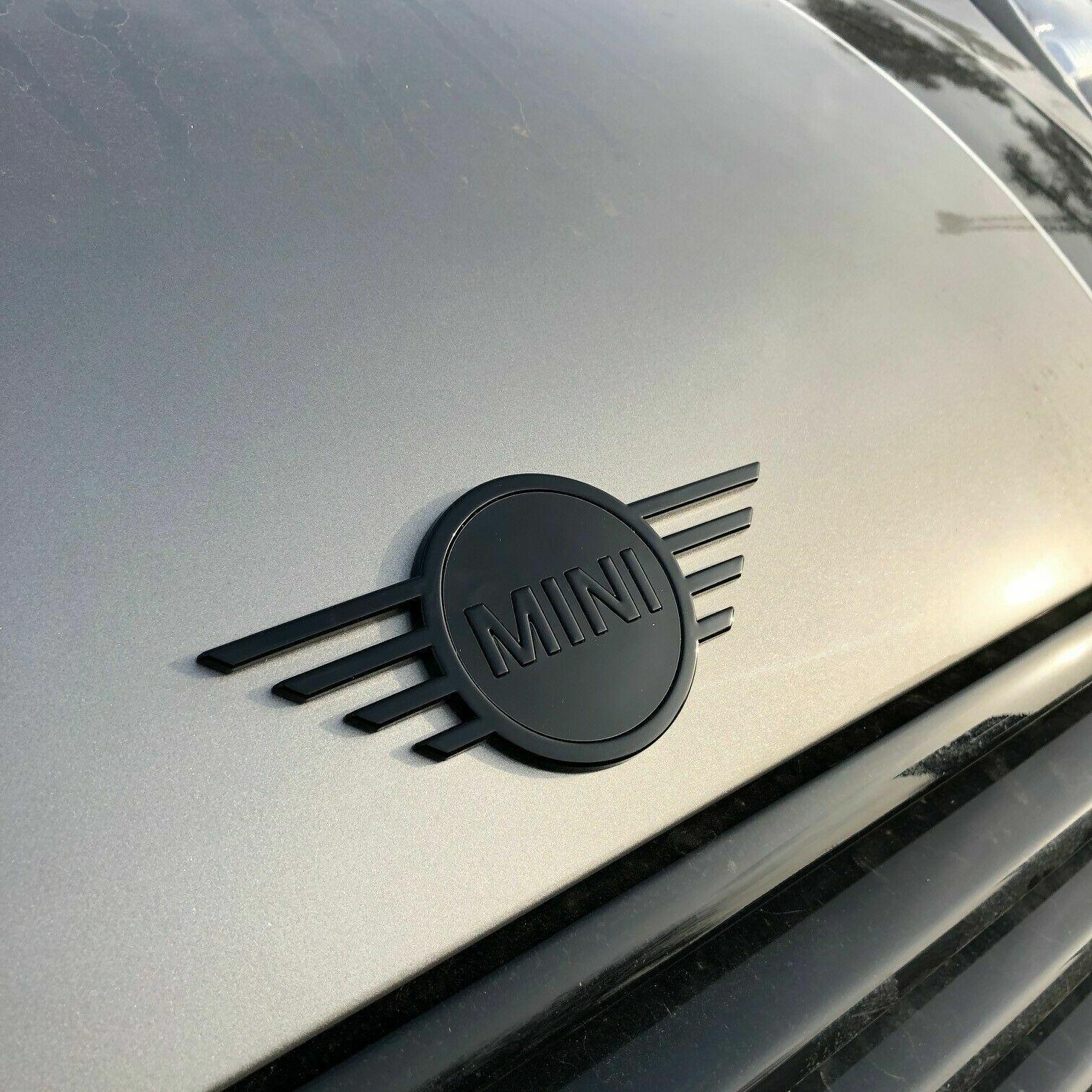 Genuine MINI F55 F56 F57 Piano Black Front /& Rear Badges 51142465241//2