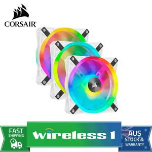 Corsair WHITE QL120 RGB 120mm RGB LED - Triple Pack with Lighting Node CORE
