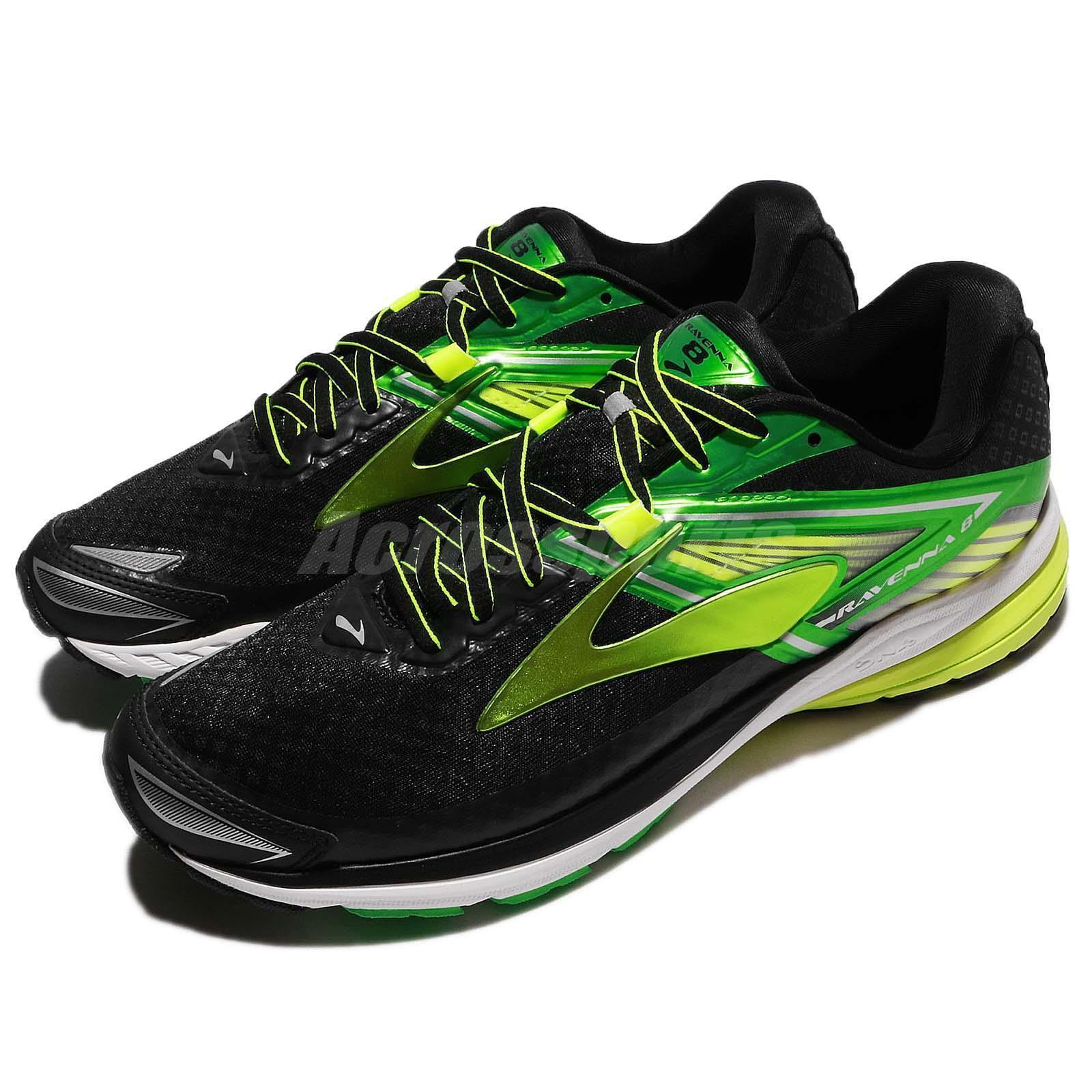 Brooks Ravenna 8  VIII Negro verde Nightlife Hombres Corriendo Zapatos TENIS 110248 1D  ahorrar en el despacho