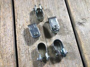 VINTAGE-BIKE-BICYCLE-COASTER-BRAKE-STRAP-CLAMP-BRAKE-ARM-STRAP-CLAMP-QTY-5-NOS
