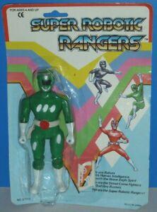 Super Robotic Rangers: Green Ranger {KO Power Rangers Figure}- New/Heavy Wear!