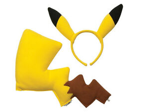 New Cute Cosplay Pokemon Pikachu Ears and Tail Dress Up ...