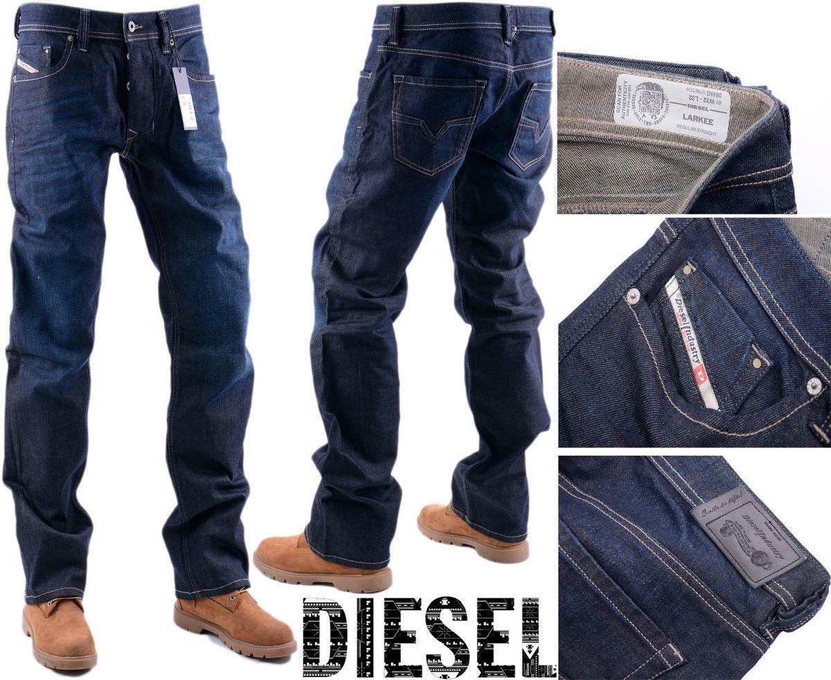 DIESEL LARKEE 0845G W32 L32 Mens Denim Jeans Stretch Regular Fit Straight
