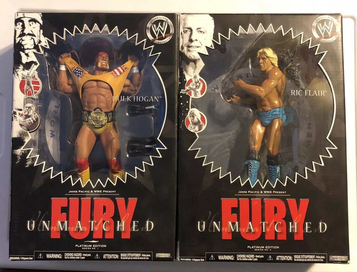 HULK HOGAN & RIC FLAIR  Fury Unmatched Lot nuovo SEALED  marchi di stilisti economici