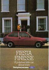 Ford Fiesta MK 1 Finesse Circa 1983 - 950 1100 1300 ORIGINAL FOLLETO No. FA615
