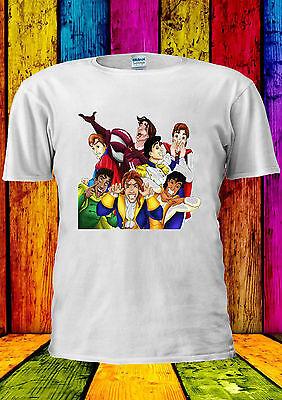 Funny Disney Princes Scherzi Divertenti T-shirt Canotta Tank Top Uomini Donne Unisex 2215-mostra Il Titolo Originale
