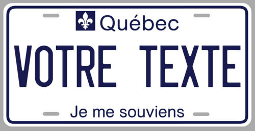 STICKER PLAQUE IMMATRICULATION QUEBEC MONTREAL CANADA JE ME SOUVIENS PD141-1