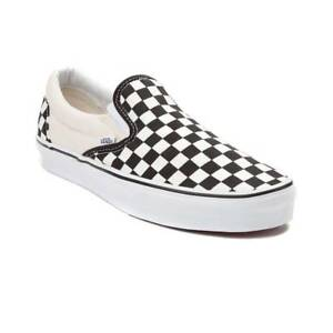 NEW Vans Slip On Chex Skate Shoe Black White Checker Mens  3fcee4b16