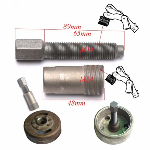 M24X1.0 Stator Flywheel Puller Repair Tool for 50 125 150cc CG50 Motor Honda ATV