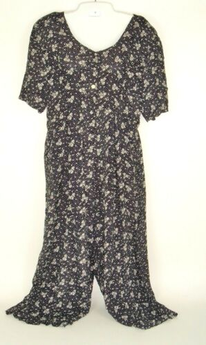 Vtg STAR of INDIA Palazzo Dress Jumpsuit Romper Fl