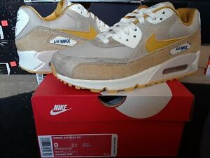 Details about Womens Nike Air Max 90 Pony Horse Hair String Wheat Gold Sail wmns 95 AT4968 200