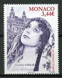 Monaco-2019-MNH-Geraldine-Farrar-Opera-Singers-1v-Set-Music-Famous-People-Stamps