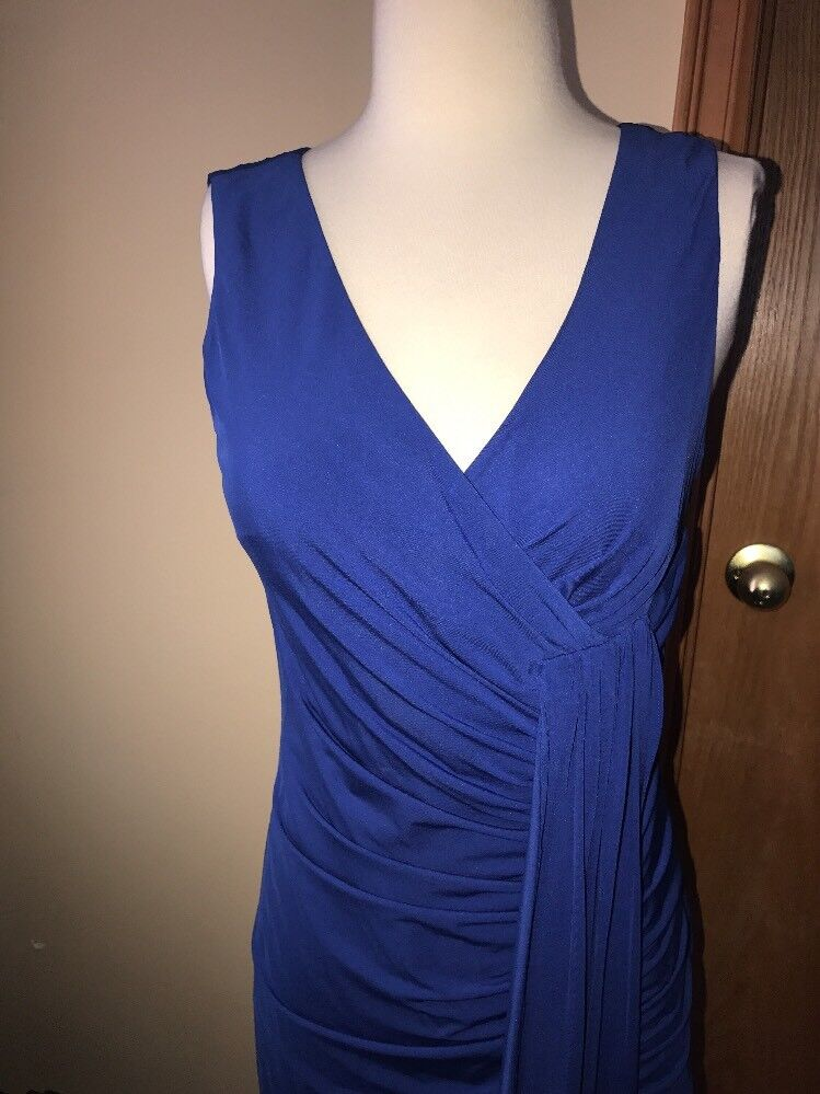 NWT  235 Laundry By By By Design Jersey Bright bluee Sleeveless Dress- Beautiful -6 d87edc