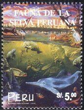 Peru 1999 Nature/Wildlife/Dolphin/Dugong/Turtle/Cats/Bird/Bat/Fish 1v (b7846)