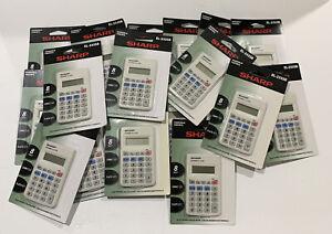 22 New SHARP EL233SB Sharp Electronics 8-DIGIT POCKET CALCULATOR School 20(2)
