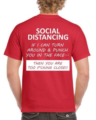 Social se Drôle T-shirt isolement Lockdown T-shirt Verrouiller Nouveauté Top