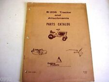 Allis Chalmers B-206 Tractor & Attachments Parts Catalog Lawn & Garden