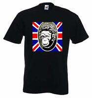 BANKSY MONKEY QUEEN T-SHIRT - Choice Of Colours - Sizes Small to XXXL