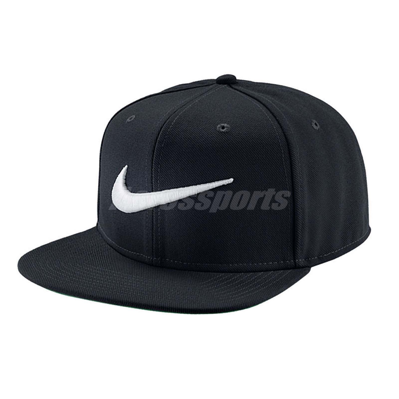 Nike Swoosh Pro Snapback Hat 639534-011 Black Green White Mens One ... f33de4b54fc