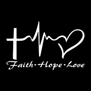 Jesus-HOPE-LOVE-FAITH-Prayer-Vinyl-Sticker-Car-Wall-Window-Bumper-Decal-Decor