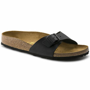 ORIGINALI-BIRKENSTOCK-MADRID-NERO-SCHWARZ-PIANTA-STRETTA-ciabatte-sandali-scarp