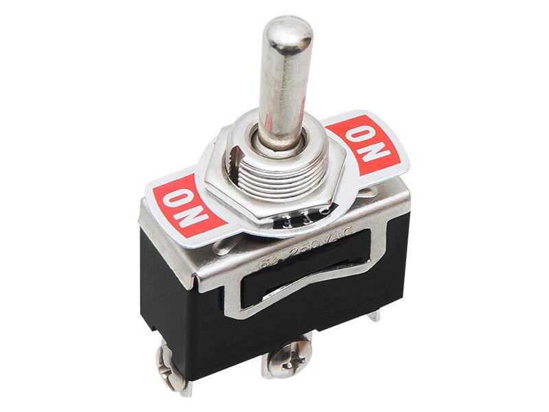 Kippschalter Schalter Doppelhebel 2 Wege EIN / AUS 10A 125V/6A 250V ...