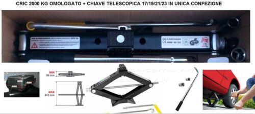 CRIC CRIK OMOLOGATO 2000 kg CHIAVE TELESCOPICA Per BMW Serie 1 3 5 6 7