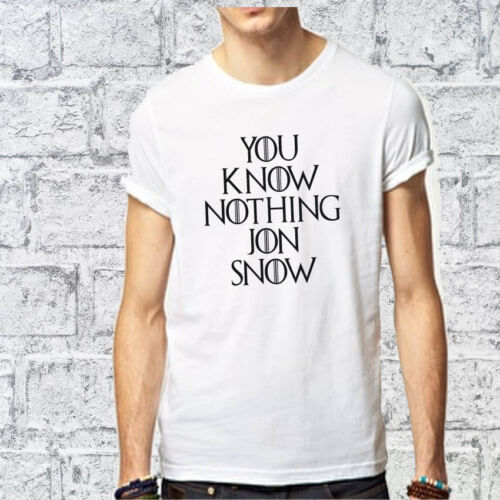 YOU KNOW NOTHING JON SNOW T SHIRT TOP GAME OF THRONES TUMBLR FASHION HODOR Quote