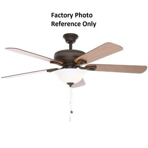 Hampton bay rothley 52 in indoor oil rubbed bronze ceiling fan image is loading hampton bay rothley 52 in indoor oil rubbed mozeypictures Choice Image