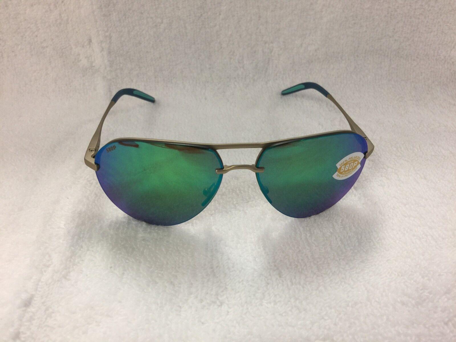 fbaf107ba9 Costa Del Mar Helo Polarized Sunglasses Champagne Green HLO 243 OGMP ...