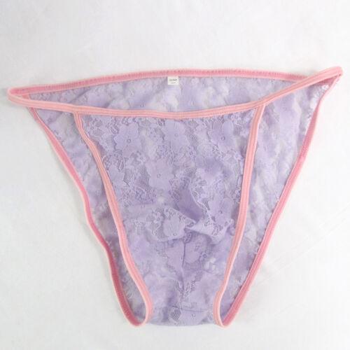 K342 Men/'s Bikini String profilé Pochette Extensible Dentelle Florale