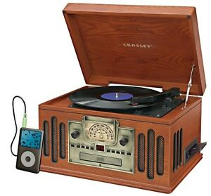 retro record player crosley ipod vinyl turntable cd cassette radio music players ebay. Black Bedroom Furniture Sets. Home Design Ideas