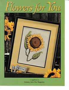 Flowers-for-You-Cross-Stitch-amp-Crochet-Leisure-Arts-RENLATM4-Supplement