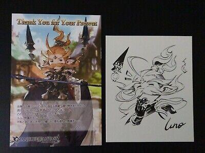 GRANBLUE FANTASY Siegfried Sign Post Card Set Shikishi bromide White day