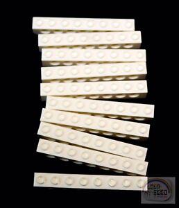 10 x Tech Plate 2x6 LEGO Technic White NXT, EV3 New -