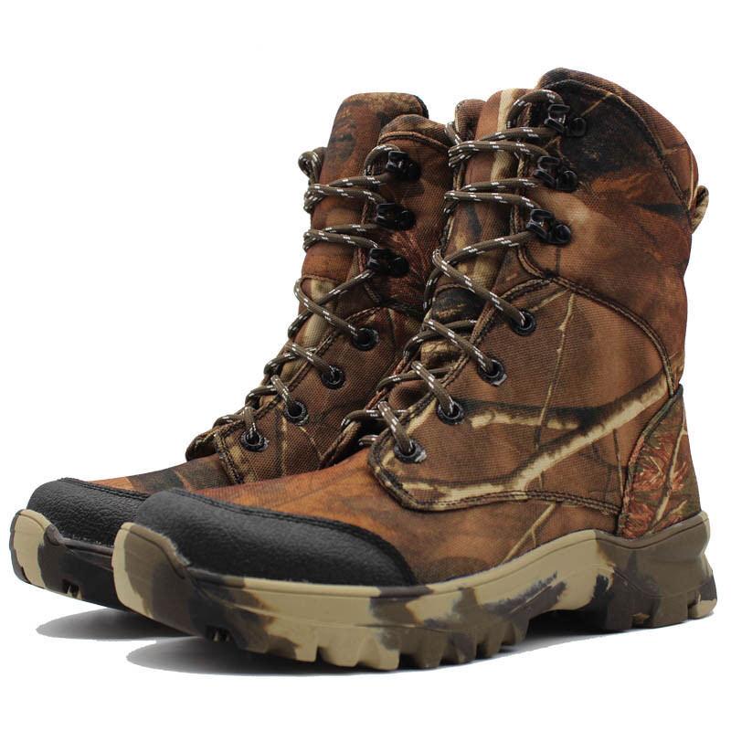 Mens Outdoor Camo Tactical Military High Top stivali Combat Hunting Climbing scarpe