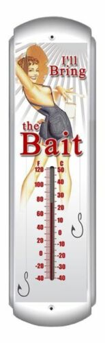 "I/""ll Bring the Bait Thermometer Hand Made in the USA with American Steel"